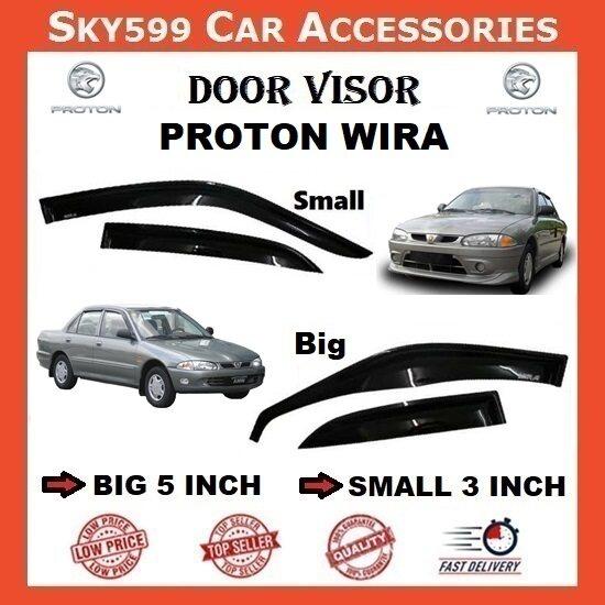 Proton Wira 3inch Door Visor /air press?1set 4 Door?