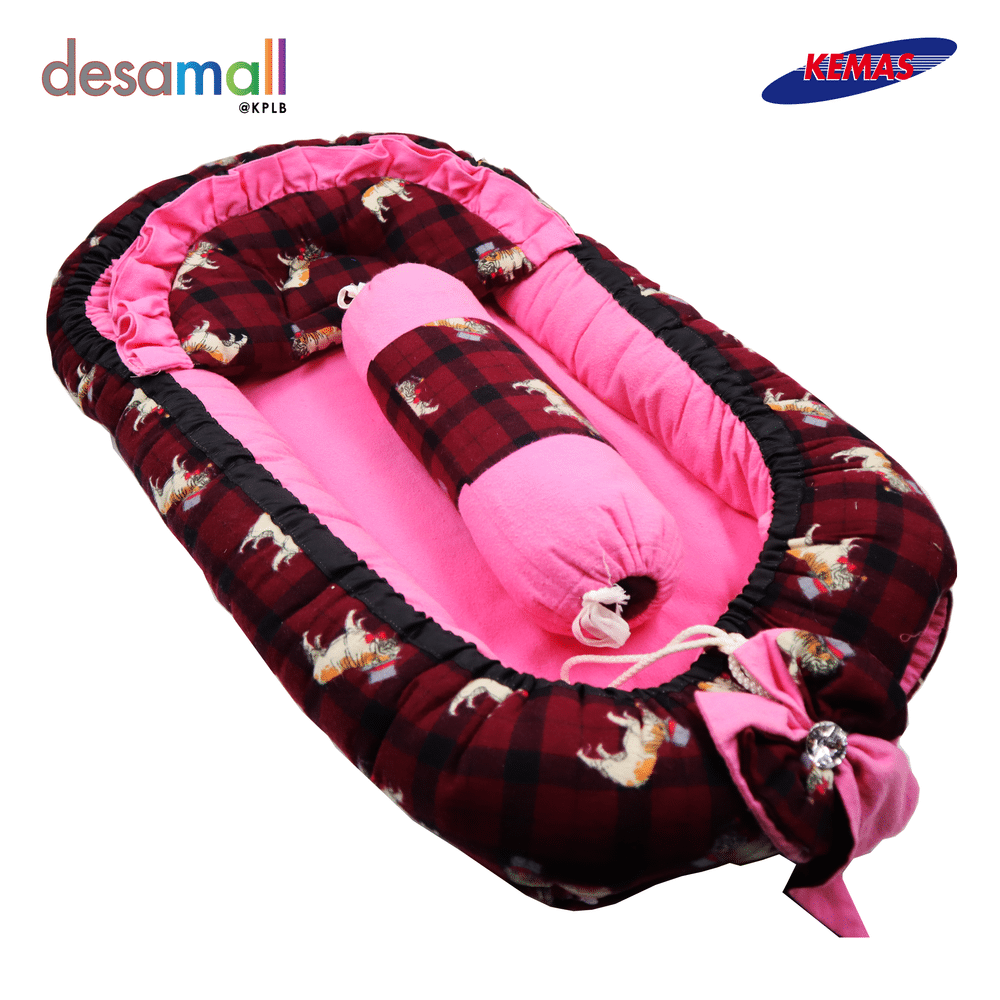 D\'HAS COLLECTION Baby Nest Selesa - Maroon Pink