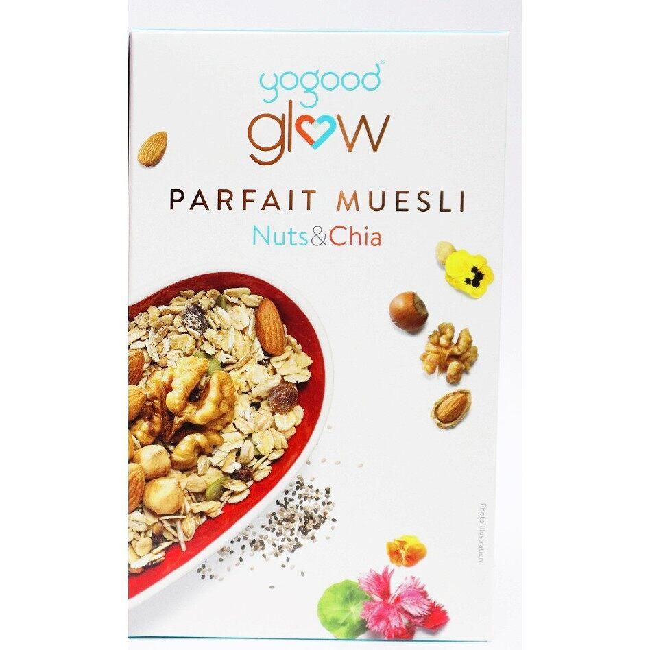 CEREAL Yogood Glow Parfait Muesli Nuts & Chia (350g) EURO SNACKS