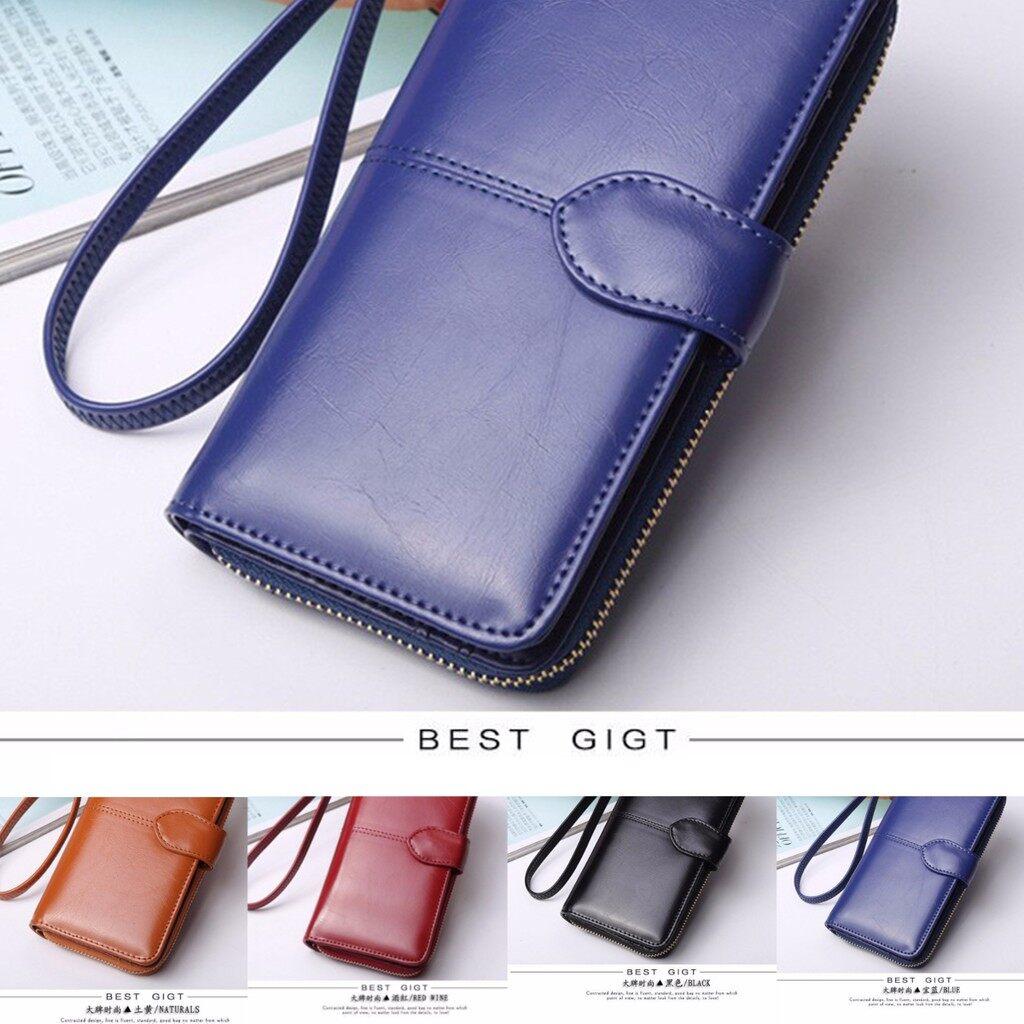 Zip Purses - Floveme Fashion Woman PU Zipper Wallet Bag Multifunctional Purse For Smartphone - ORANGE / BROWN / BLUE / RED / BLACK