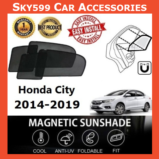 Honda City 2014-2020 Magnetic Sunshade ?4pcs?