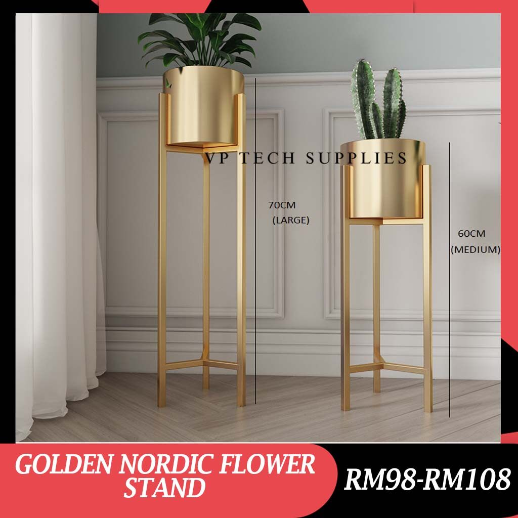 [READY STOCK] GOLDEN NORDIC FLOWER STAND/ POT