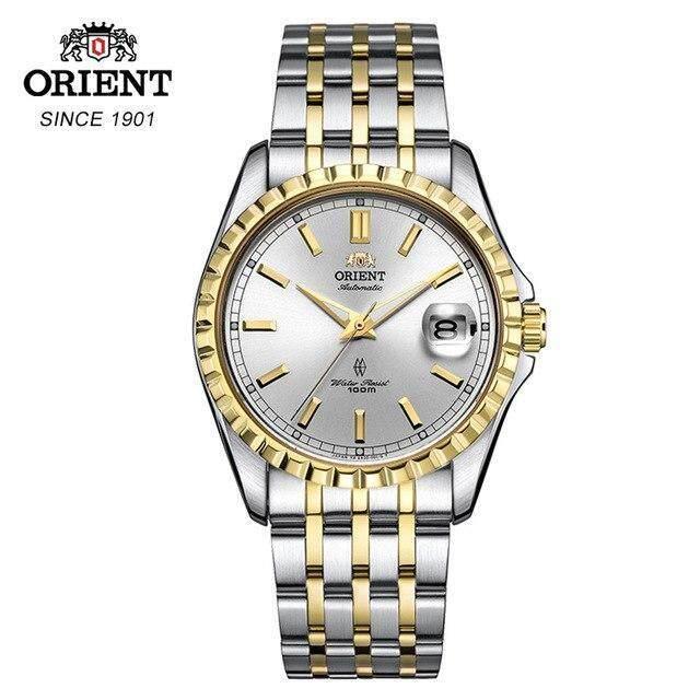 ORIENT Watch Men Japanese Original Classic Automatic Mechanical Gold Watch Pyramidal Watch Bezel men\'s wrist watch