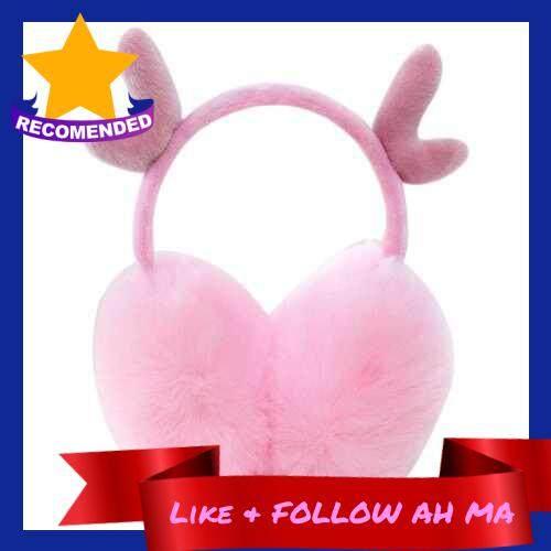 Best Selling Ear Muffs Winter Fall Cute Warm-Keeping Earmuffs Christmas Day Girl Lovely Deerlet Horn Ear Warmers (Pink)