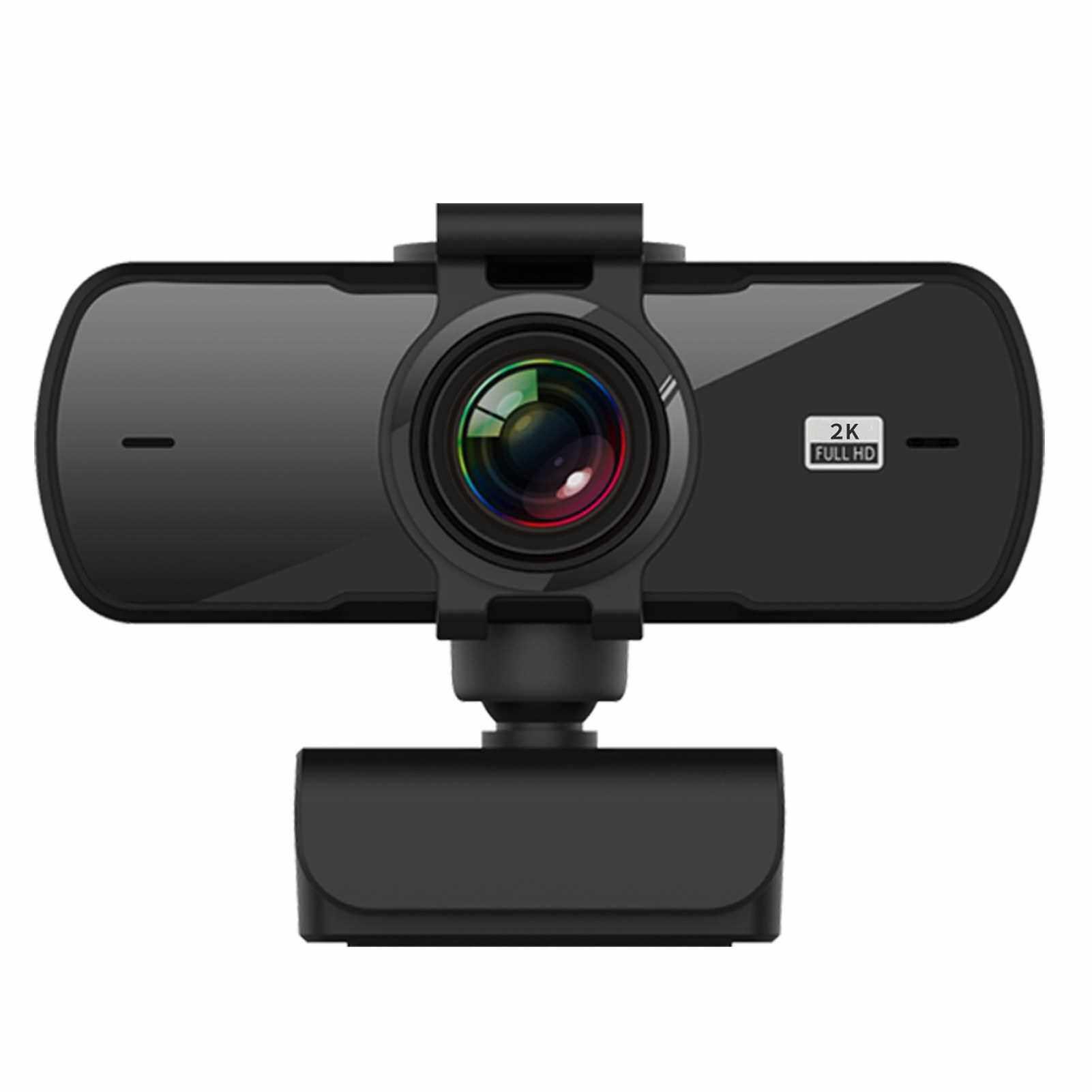 P5 USB Webcam 2K High-definition Computer Camera Conference Cam with Microphone Driver Free Video Webcam Clip-on Camera for Laptop Desktop Computer (Standard)