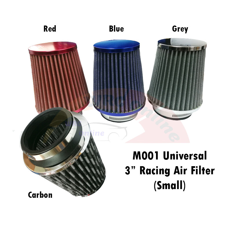 M001 Universal 3 Air Filter 76mm (Small) - Carbon