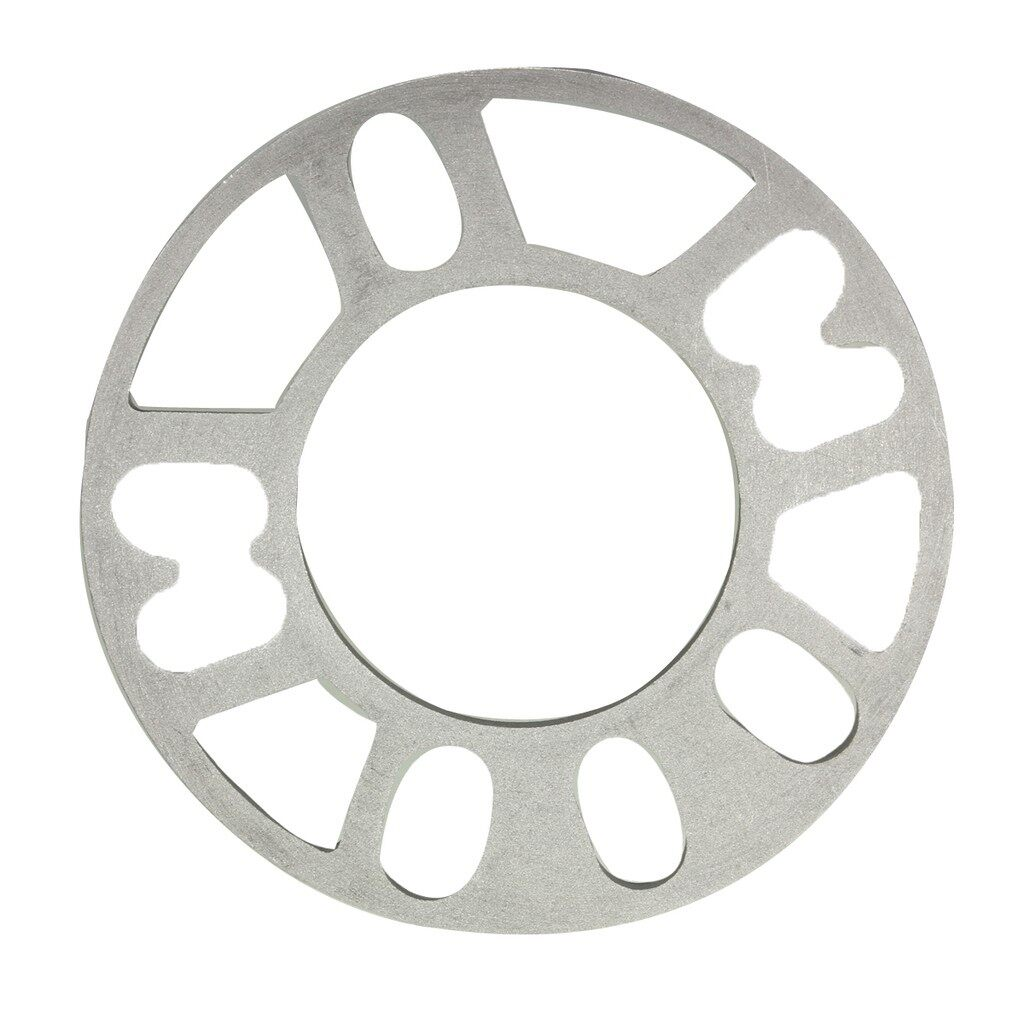Tyres & Wheels - Silver Wheel Spacers Shims Plate 4/5 Stud Fit For VW - Car Replacement Parts