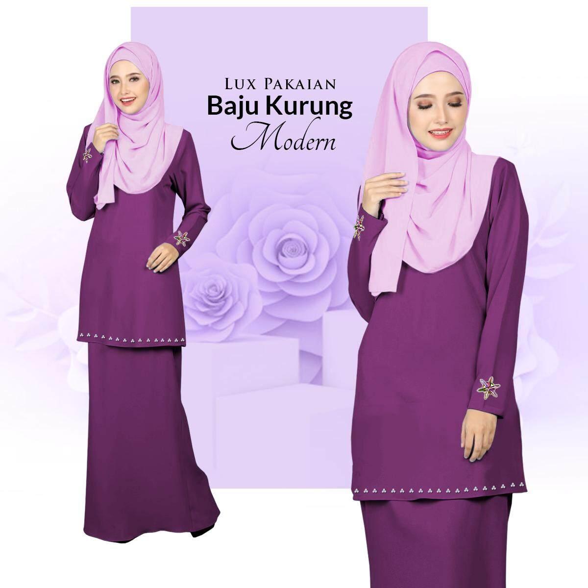 Harga Lux Pakaian Baju Kurung Modern with Stylish Bunch & Batu Terbaik