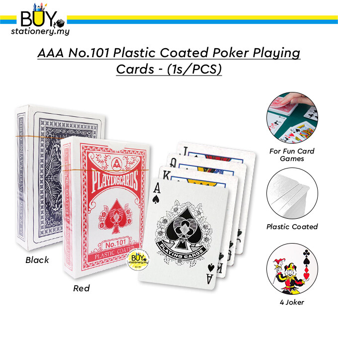 AAA No.101 Plastic Coated Poker Playing Cards - (1s/PCS)