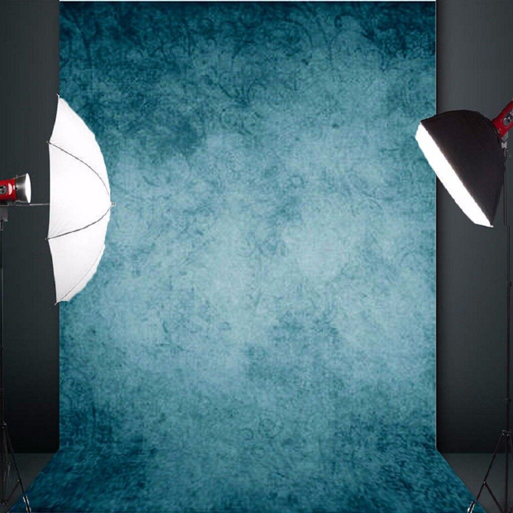Lighting and Studio Equipment - 5x7ft Blue Vinyl Vintage Wall Photography Background Props Photo Studio Backdrop - Camera Accessories