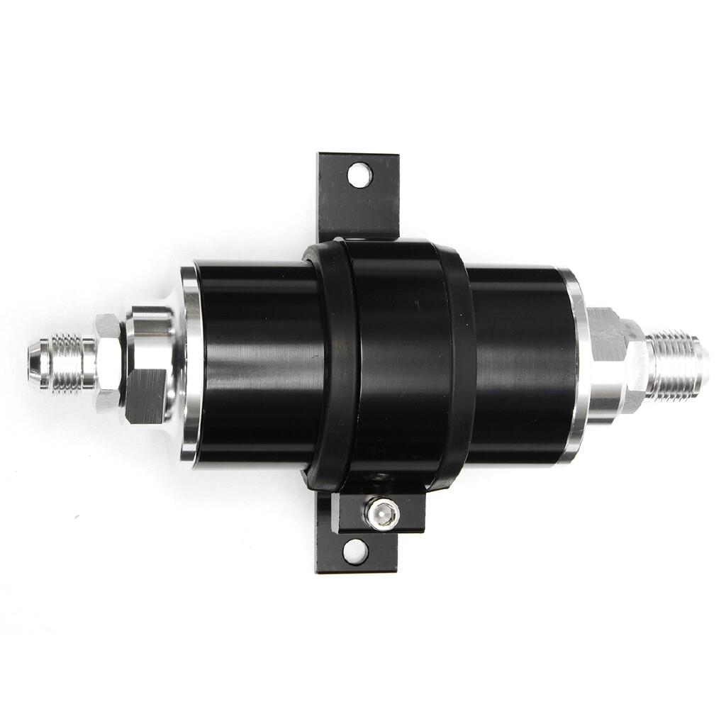 Automotive Tools & Equipment - High Flow Aluminum Racing Petrol Fuel Filter 100 Micron AN6 AN8 AN10 Fitting Kit - Car Replacement Parts