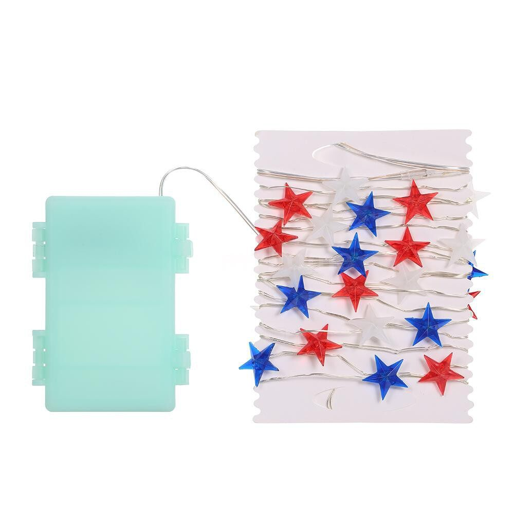 Lighting - 40 LEDs Fairy String Light Stars Flag 3m/10ft Battery Operated with Remote Control Timer Function - BULB SHAPE / STAR SHAPE