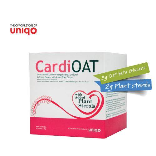 Uniqo CardiOAT Oat Bran Powder with Added Plant Sterols 28 Sachets x 18g