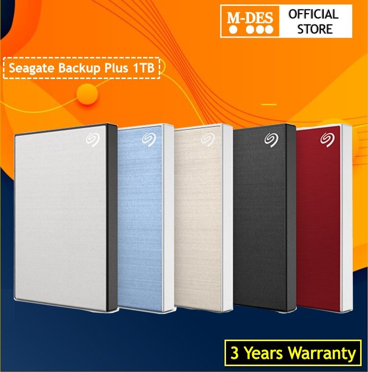 "[3Years Warranty] Seagate 1TB Backup Plus Slim Portable Hard Drives (2.5"") 1TB HDD External Harddisk Hard disk"