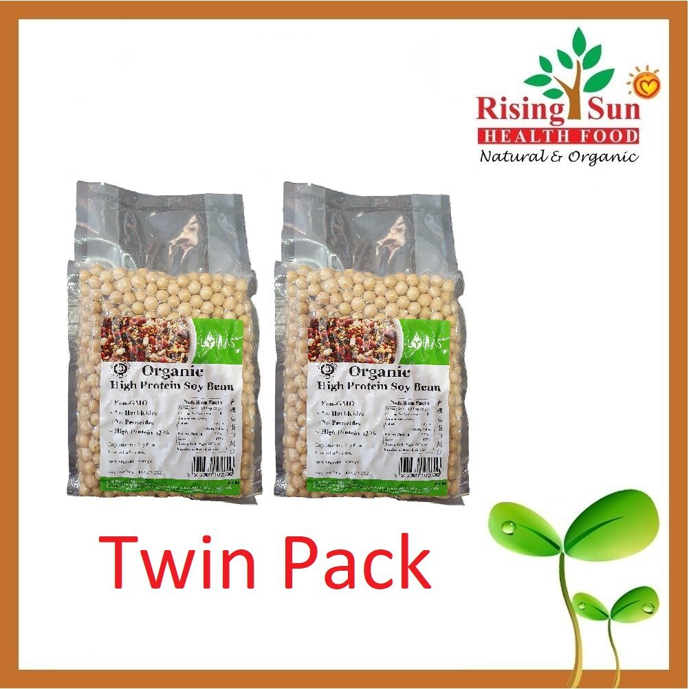 Lohas Organic High Protein Soy Bean 500G - Twin Pack