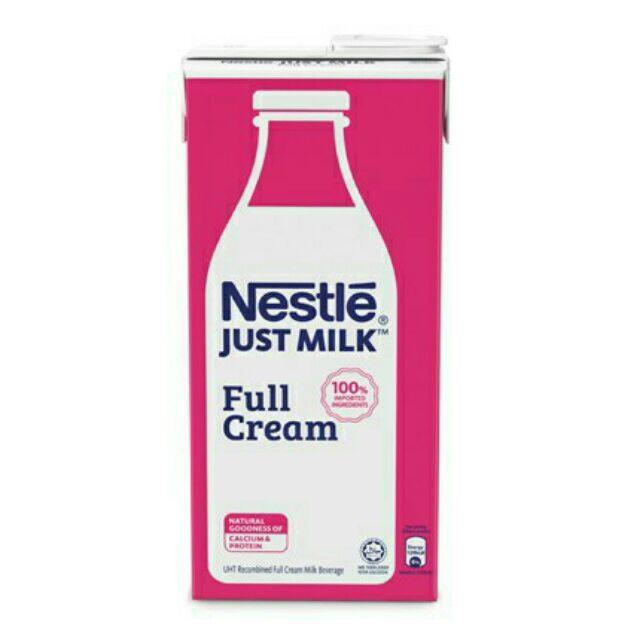 NESTLE JUST MILK FULL CREAM 1 LITER