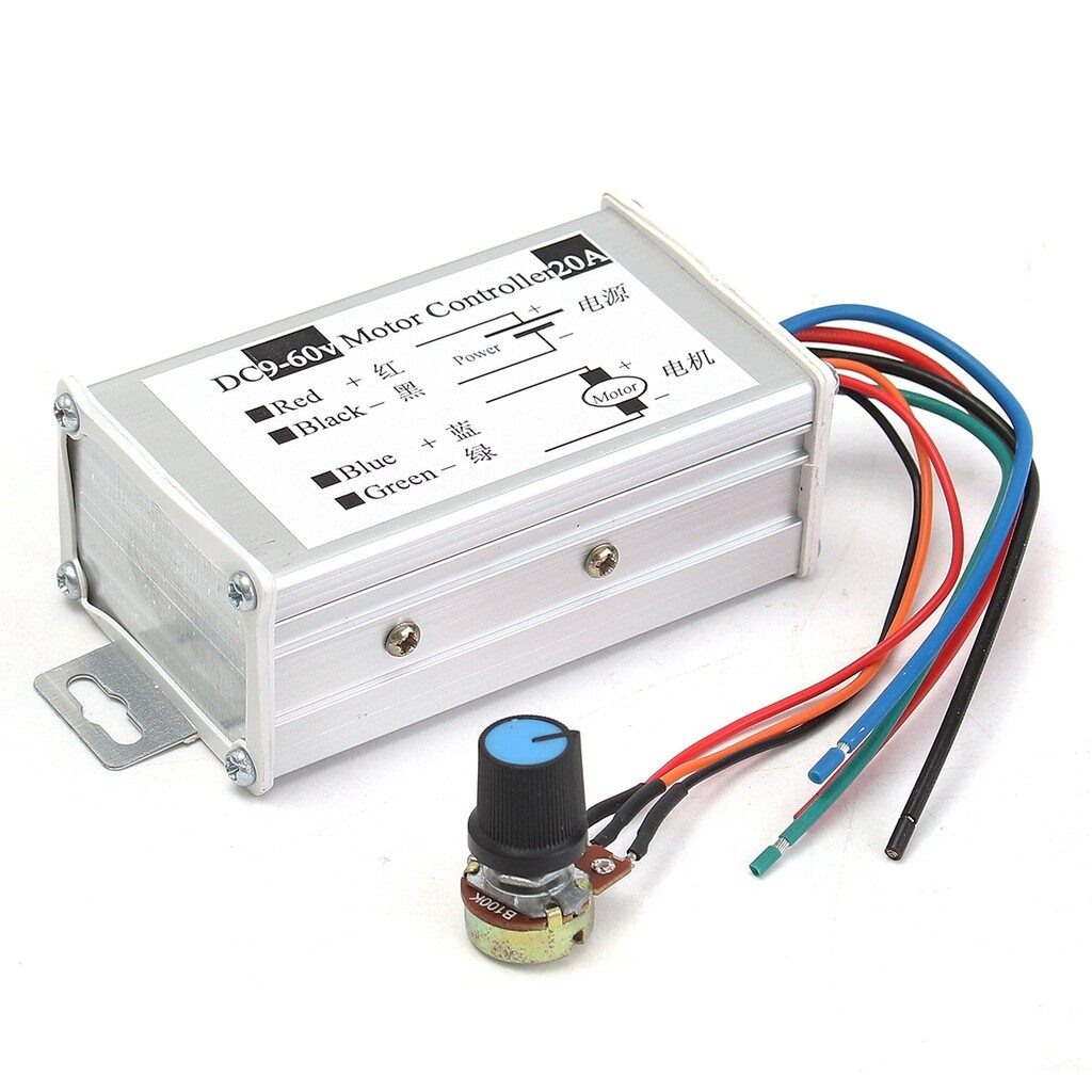 Moto Spare Parts - 9-60V Max 20A PWM DC Motor Stepless Variable Speed Controller Switch - Motorcycles, & Accessories
