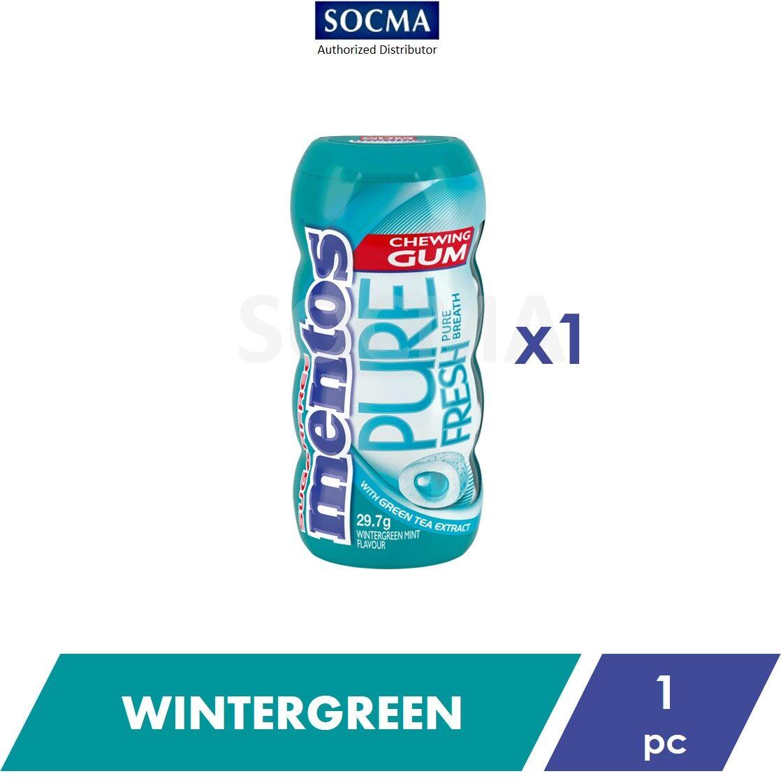 Mentos Pure Fresh Pocket Bottle Gum Wintergreen 29g [1]