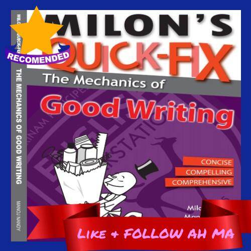 Best Selling Milon's Quick-Fix: Mechanics Of Good Writing Step By Step Guide Proven Success Rate (Ready Stock)