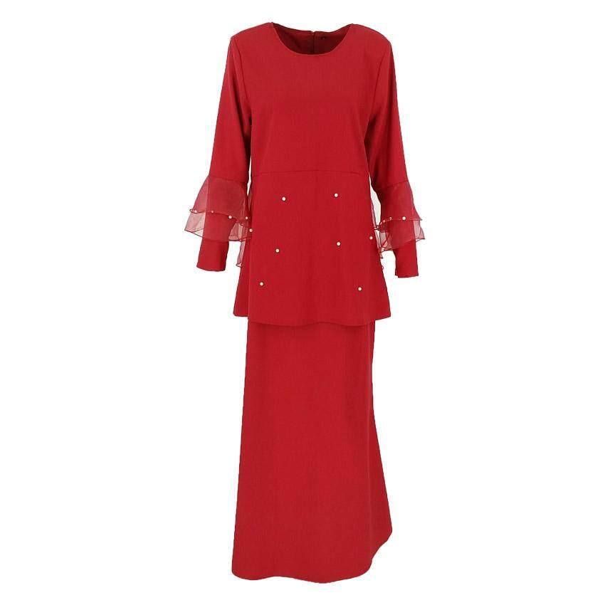 Harga QFM Sarah Baju Kurung Moden Peplum Manik 2020 Raya Muslimah Wear BEST SELLER Baju Raya Terkini