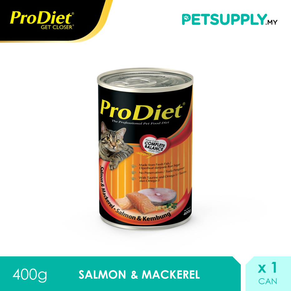 ProDiet 400g Salmon & Mackerel Wet Cat Food [makanan kucing PETSUPPLY.MY]