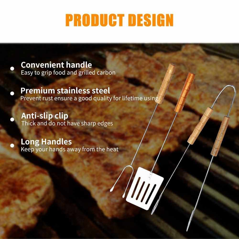 Best Selling BBQ Tool Set Barbecue Grill Pastry Tools Baking Cooking Tongs Spatula Fork Kicthen Food Stainless Steel Tool Set (Standard)