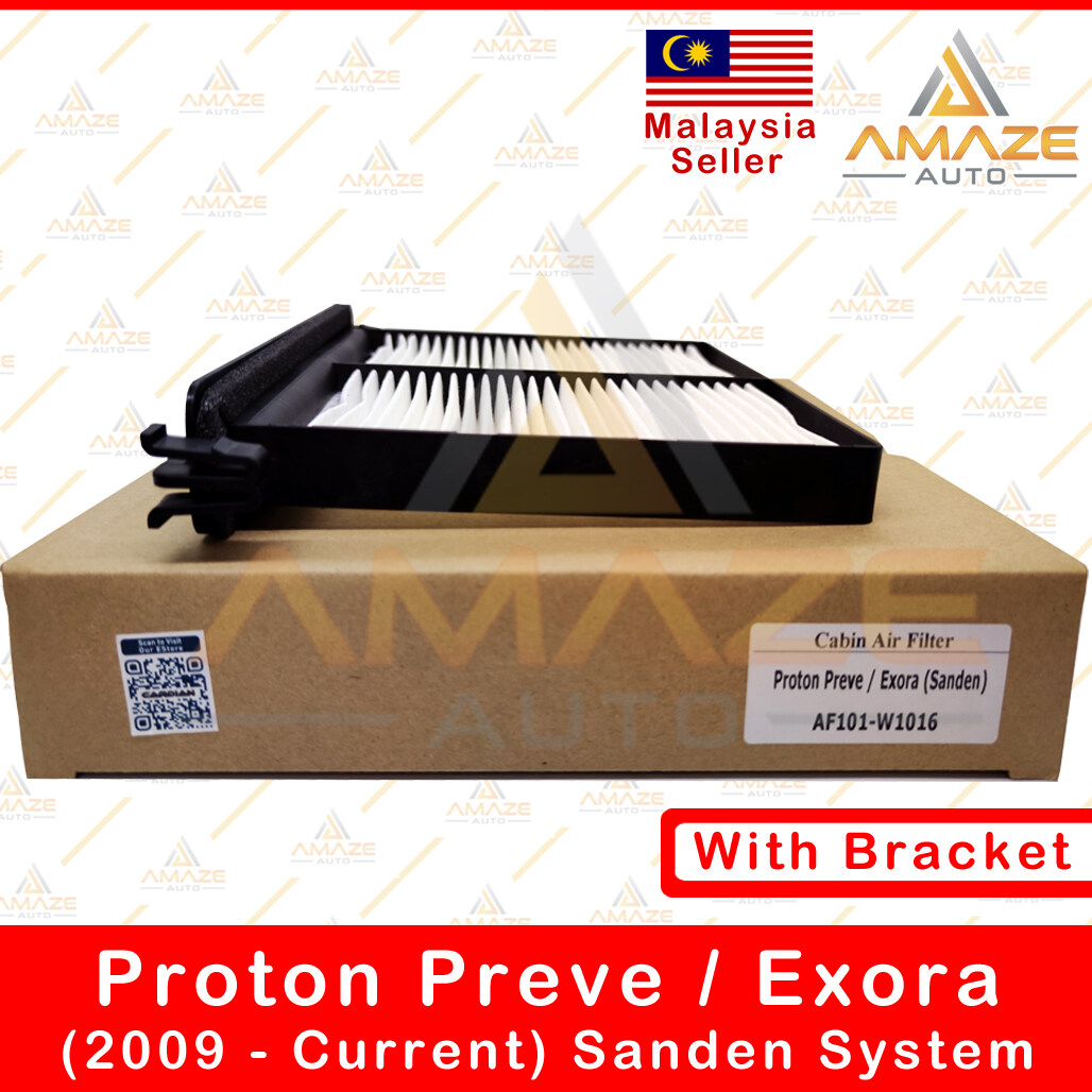 Air-Cond Cabin Filter for Proton Exora (2009 - Current) Sanden type with Bracket - Amaze Autoparts