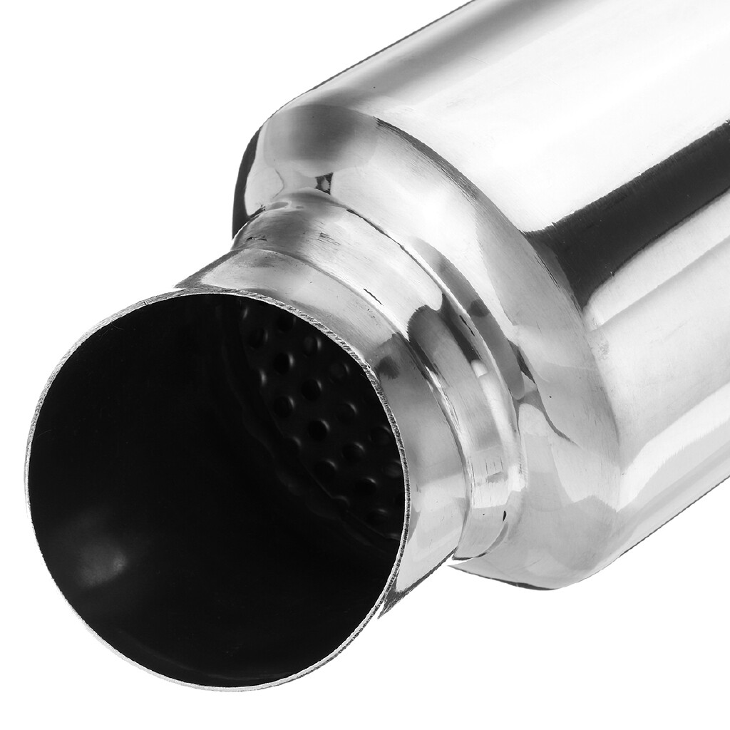 Car Lights - 51mm 2'' Inlet Car Universal Exhaust Pipe Muffler Silencer Bent Stainless Steel - Replacement Parts