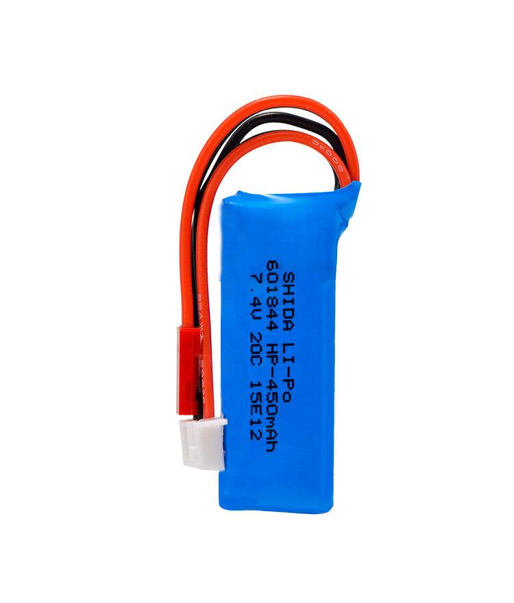 7.4V 450mAh 20C Lipo Battery 1 pcs 2S for WLtoys K969 K989 K999 P929 P939 RC Car