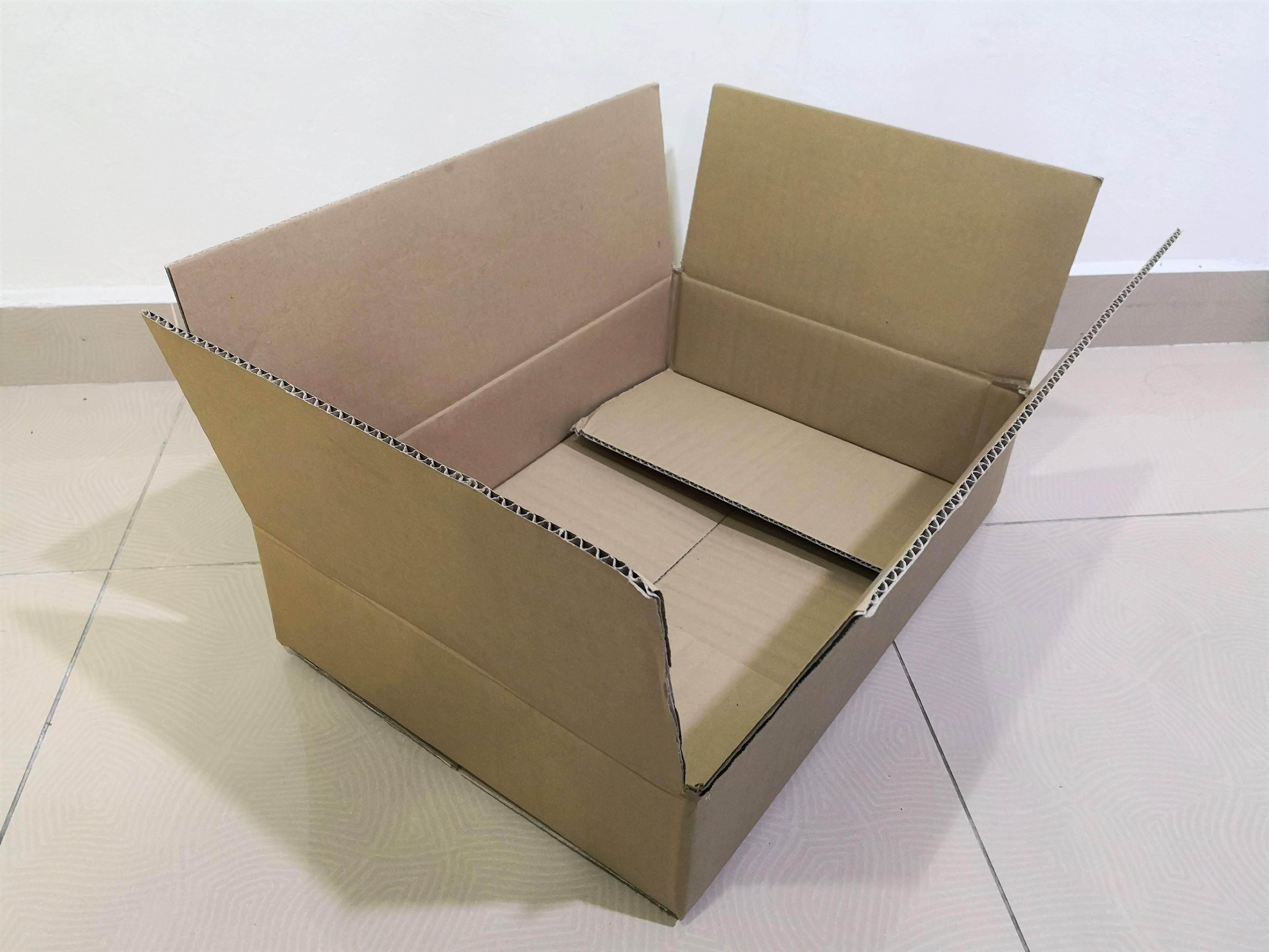 10pcs Plain Carton Boxes (L500 X W352 X H108mm)