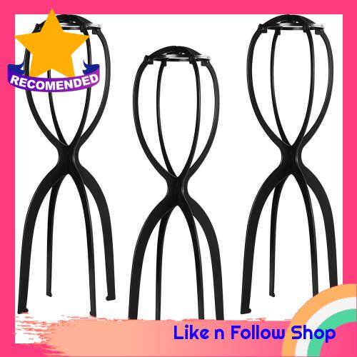 3Pcs Wig Holder Support Long Wigs Stand Bracket Detachable Portable for Style Drying Display (Standard)