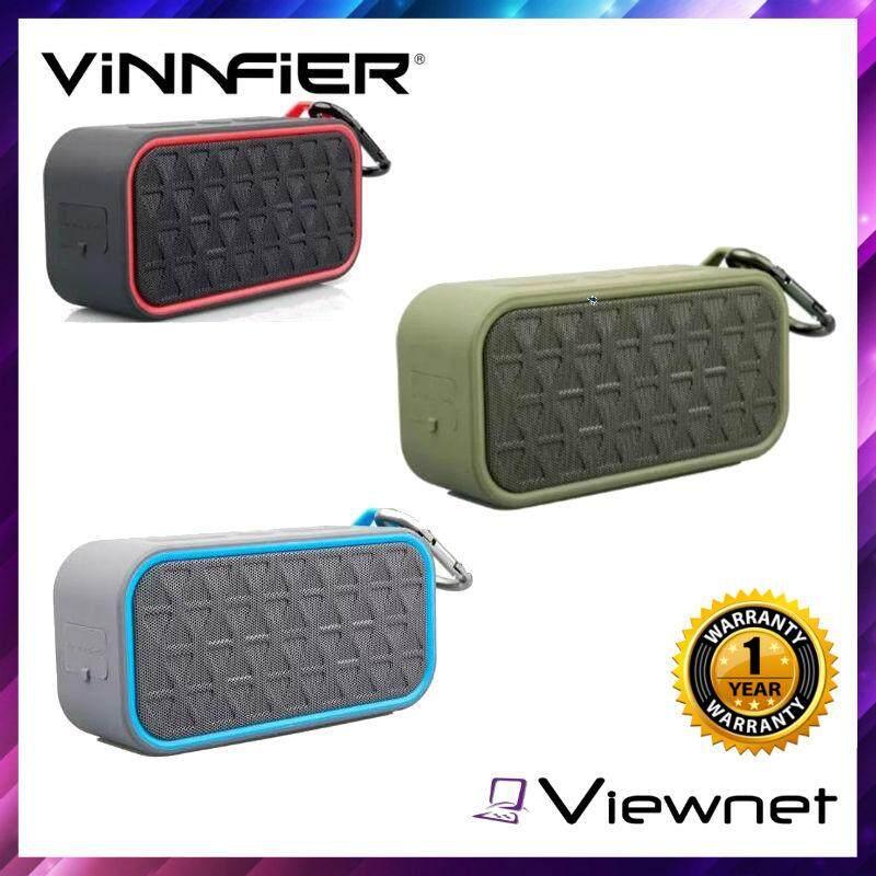 Vinnfier Portable Bluetooth Neo Boom Speaker (Black Red/Black Green/Black Blue)