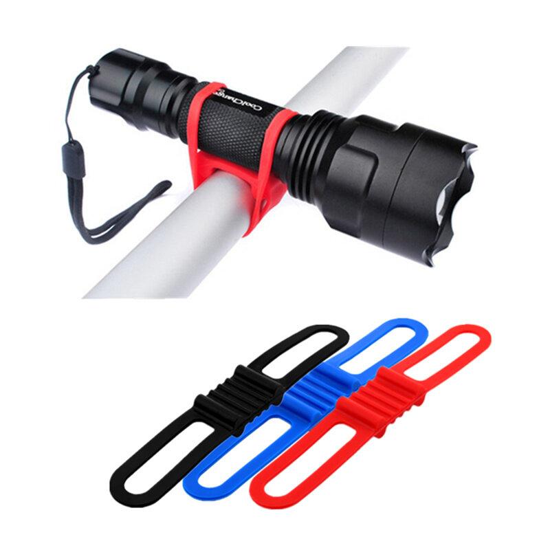 YKBIKE [LOCAL READY STOCK] 1pcs Silicone Light Bandages Bicycle Light Mount Holder Flashlight Band Phone Cycle Strap OTR10