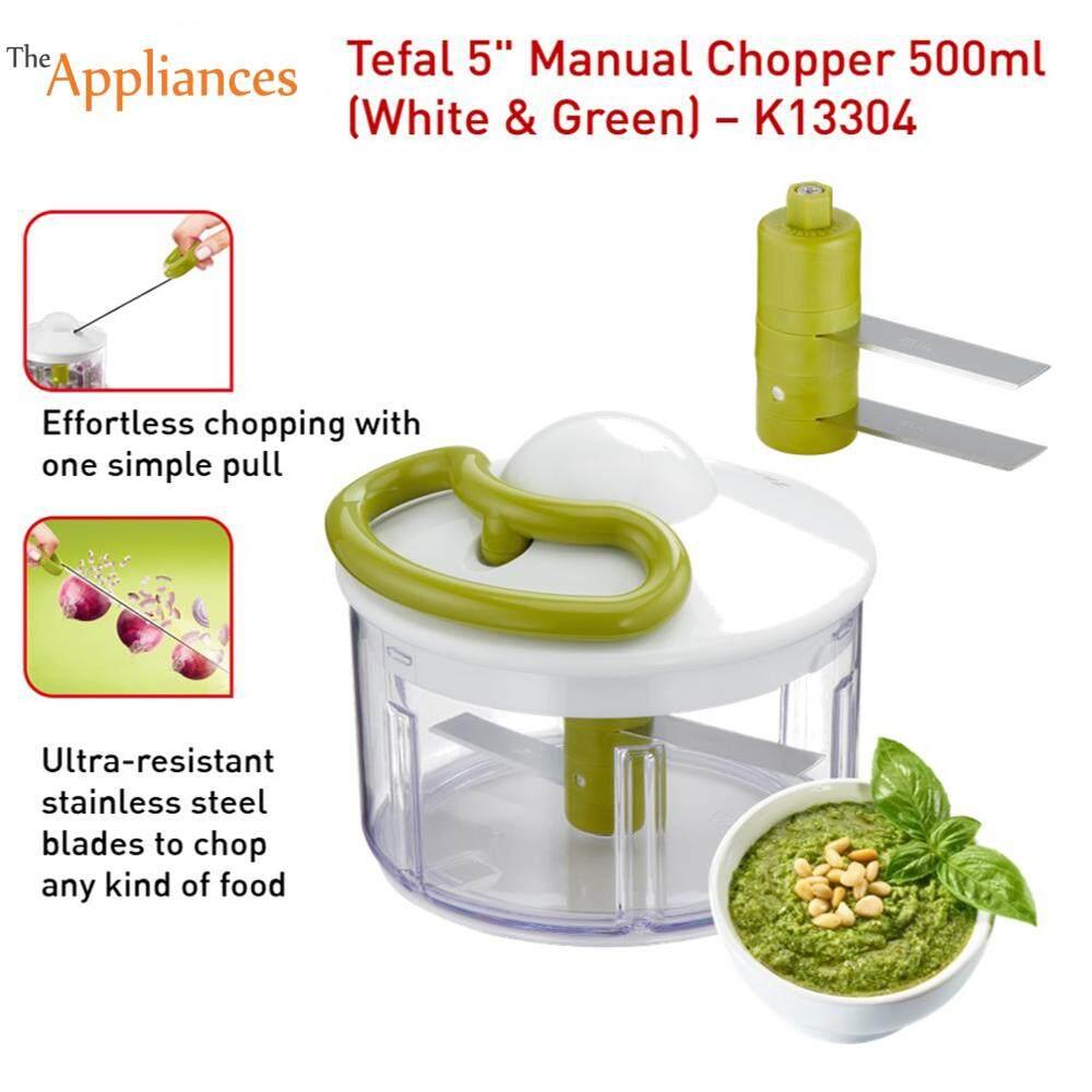 Tefal Manual Chopper Grinder Anti Slip Safe Locking 500ml