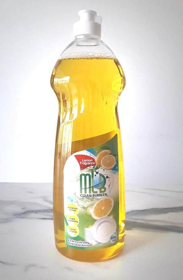 MLB Clean Bubbles Dishwashing Liquid 1 liter Lemon  X12 BOTTLE