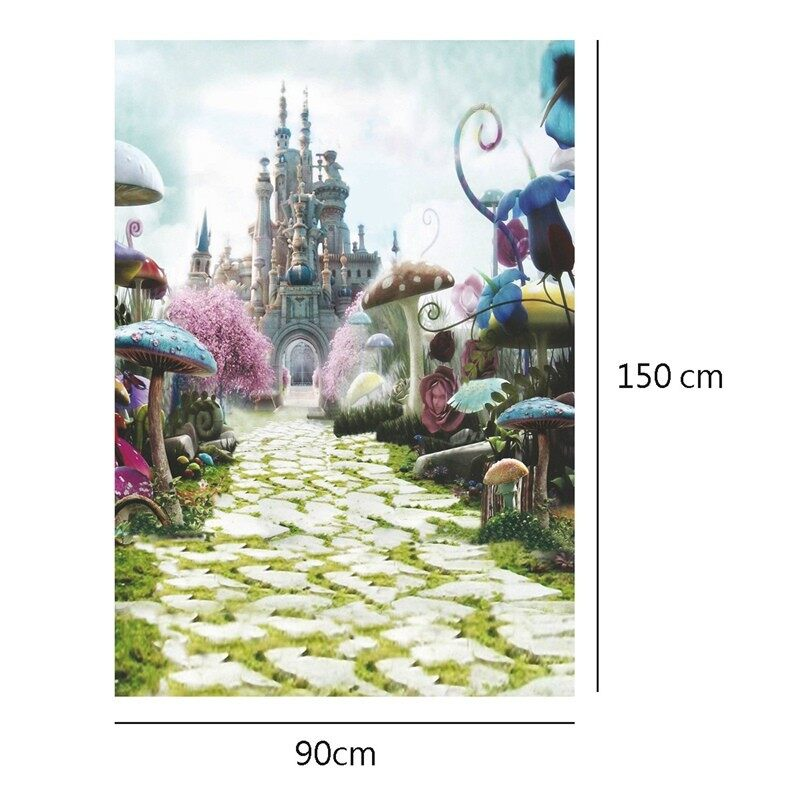 Lighting and Studio Equipment - 3x5Ft Wonderful Fairy Tale Castle Photography Backdrop Studio Props Background - Camera Accessories