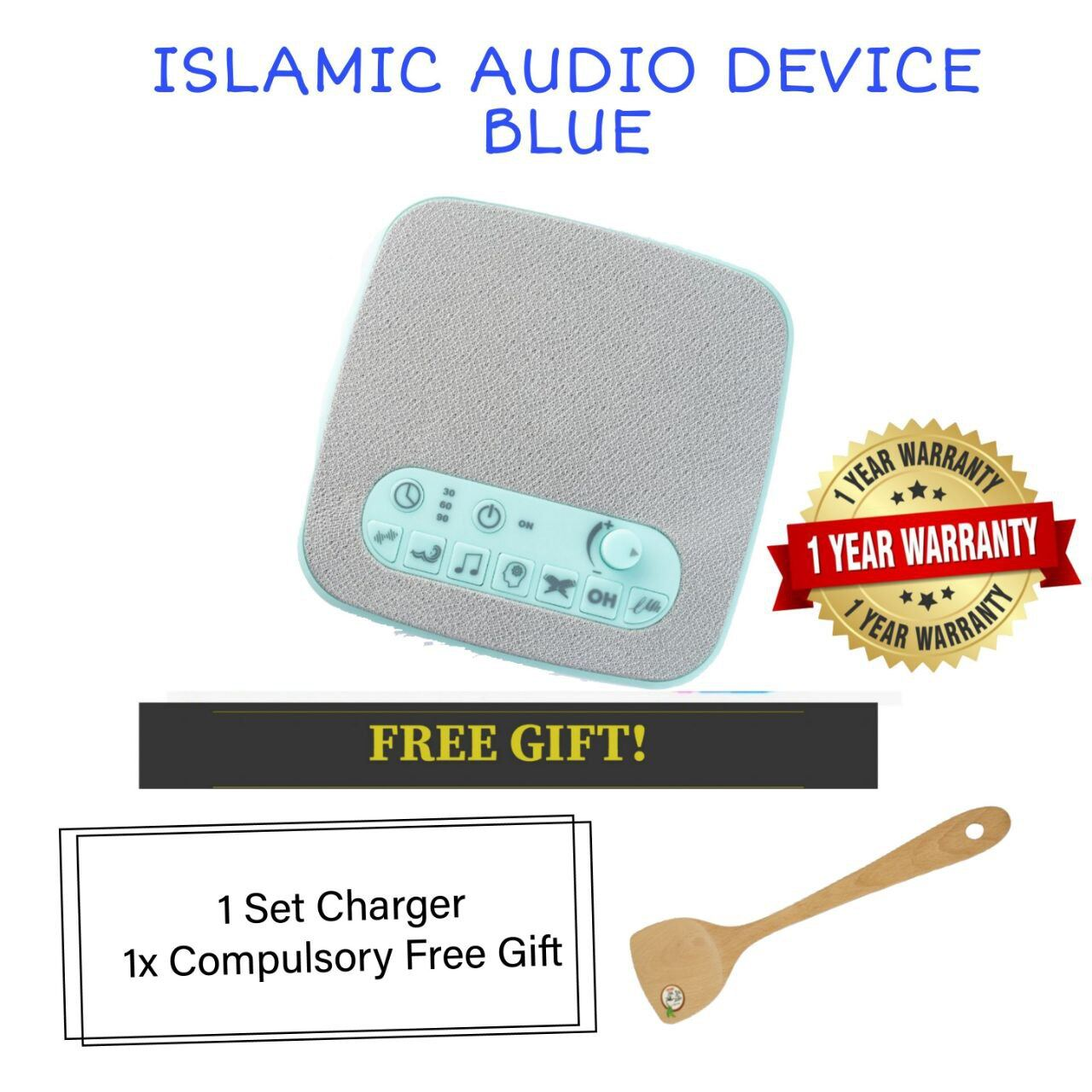 (READY STOCK) ISLAMIC AUDIO DEVICE MOMMYHANA X OMAR HANA (BLUE) (8)