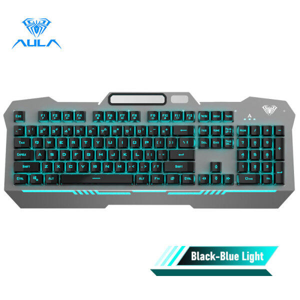 AULA F3010 Gaming Wired Keyboard Mobile Phone Placement and 26-key Anti-ghosting 3 Free Adjustment Modes for Desktop and Laptop Singapore