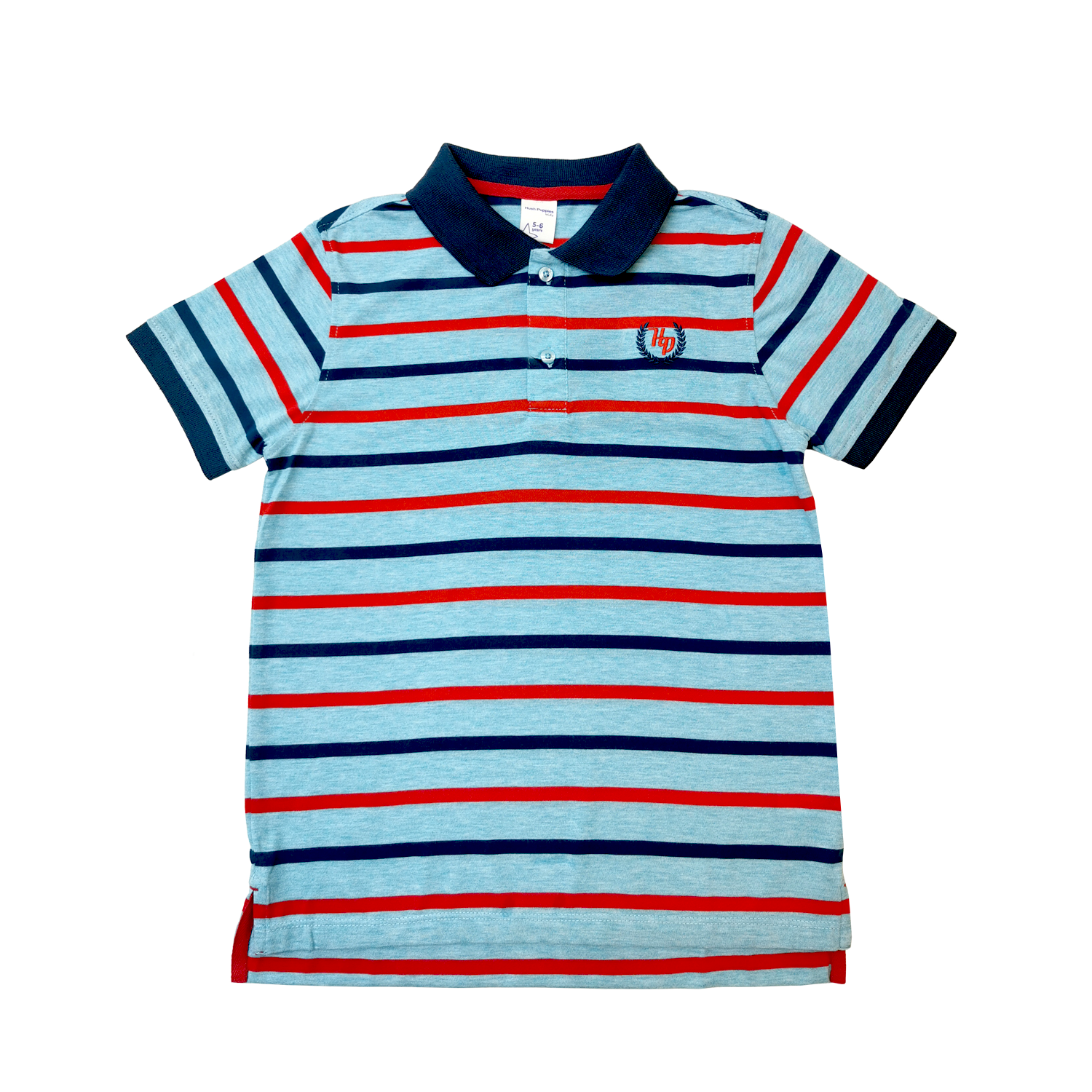 Hush Puppies Ryan Boy Stripe Polo With Embroidery  HBP039358