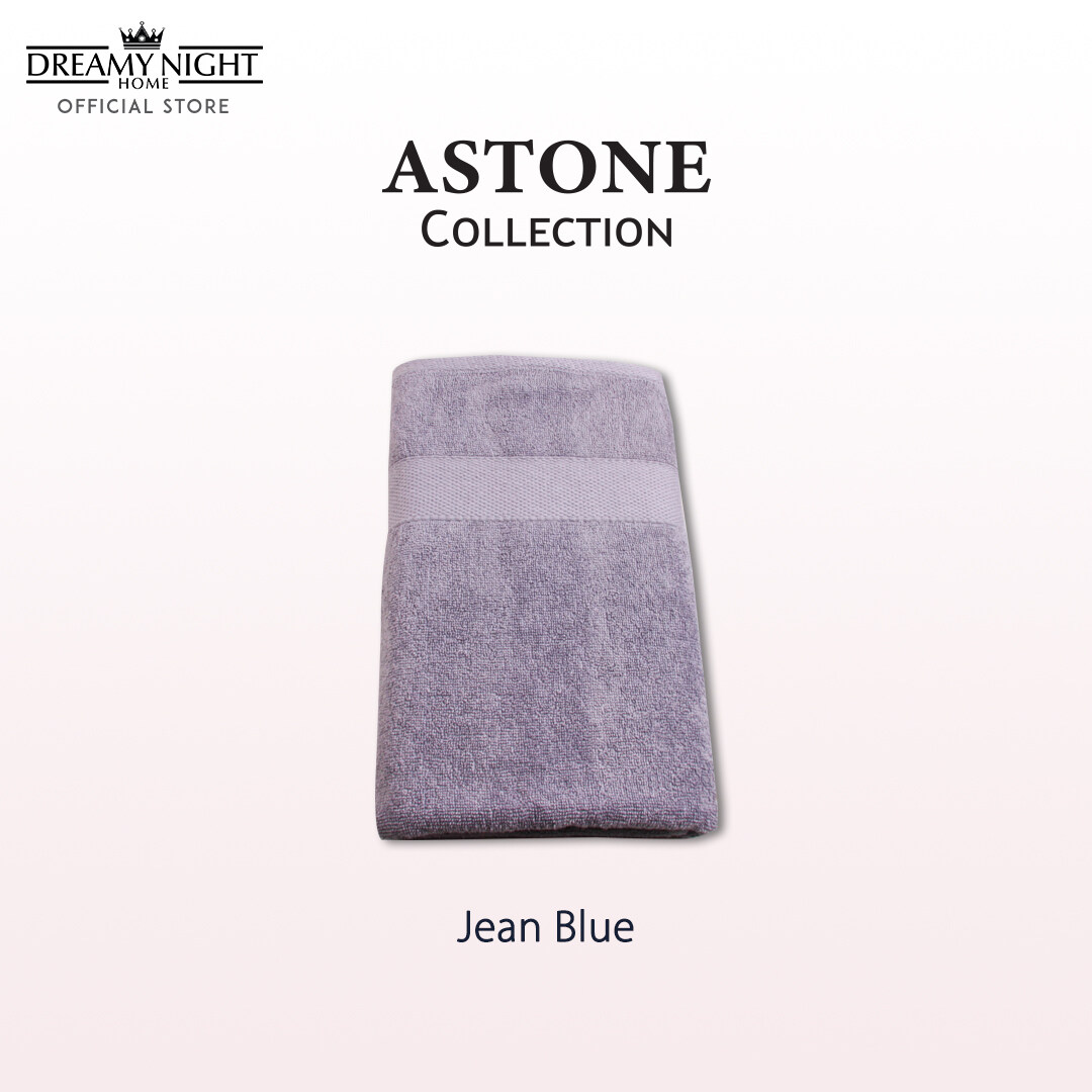 [70cm x 140cm/ 510g] Dreamynight Home Astone Collection 100% Cotton High Quality Soft & Comfortable Big Bath Towel/ Tuala Mandi Super Absorbent Hotel Towel Hand Towel Face Towel (70cm X 140cm)