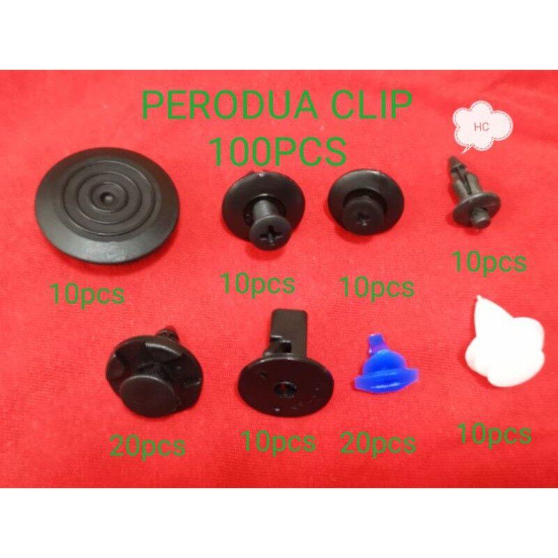 Perodua Myvi/Viva/Axia Fender bezza alza SIDE SKIRT LOWER Bumper door Clips(100 PCS)