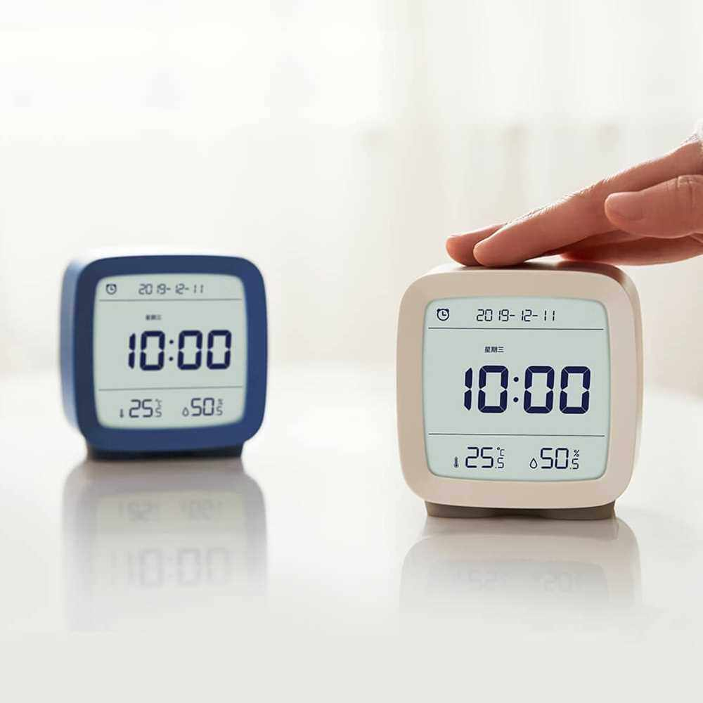 CGD1 Mini Multifunction Bluetooth Alarm Clock Temperature / Humidity Monitor Night Light (Warm White)