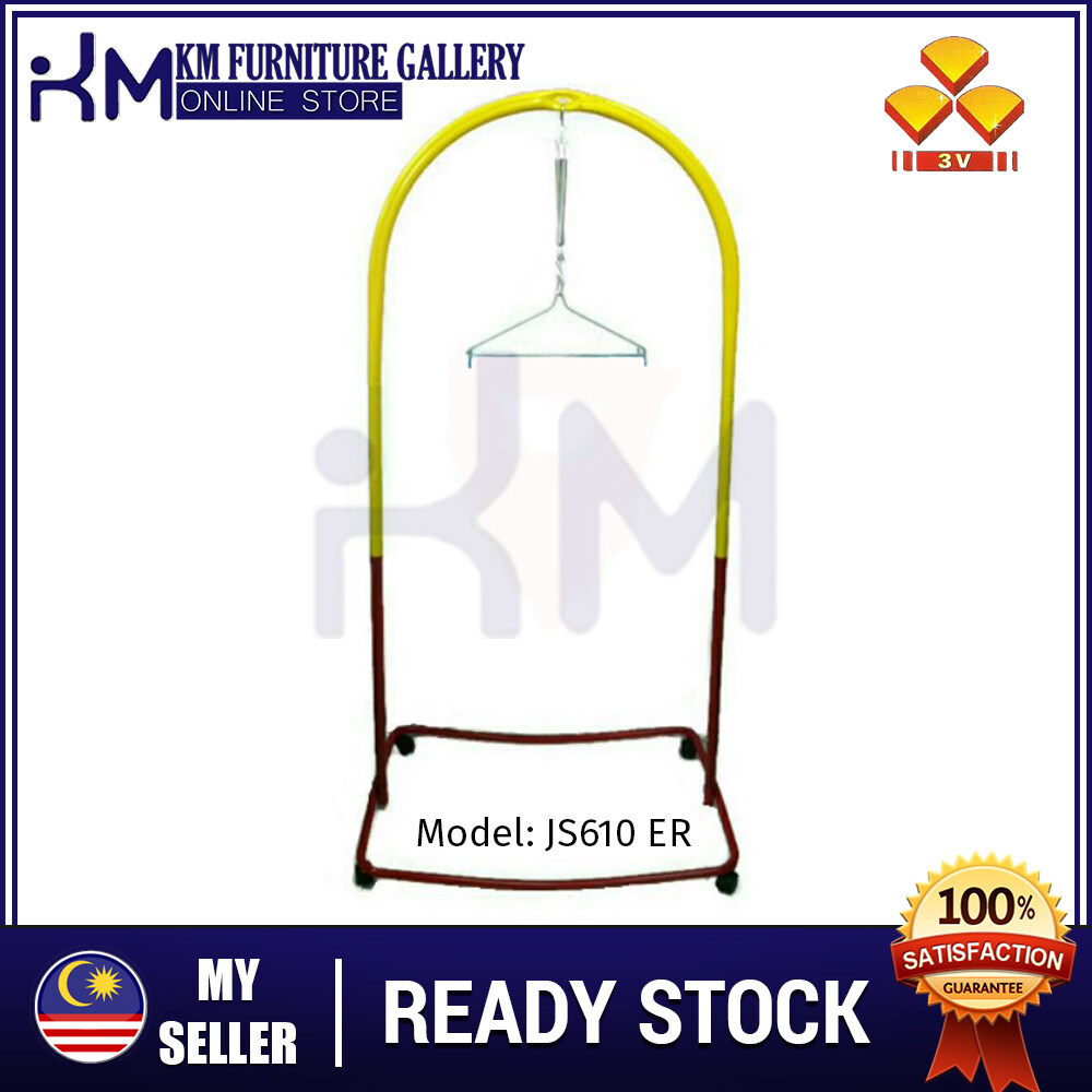 KM 3V Epoxy Baby Sarung Stand With Roller (JS-610A)  KMJS610ER
