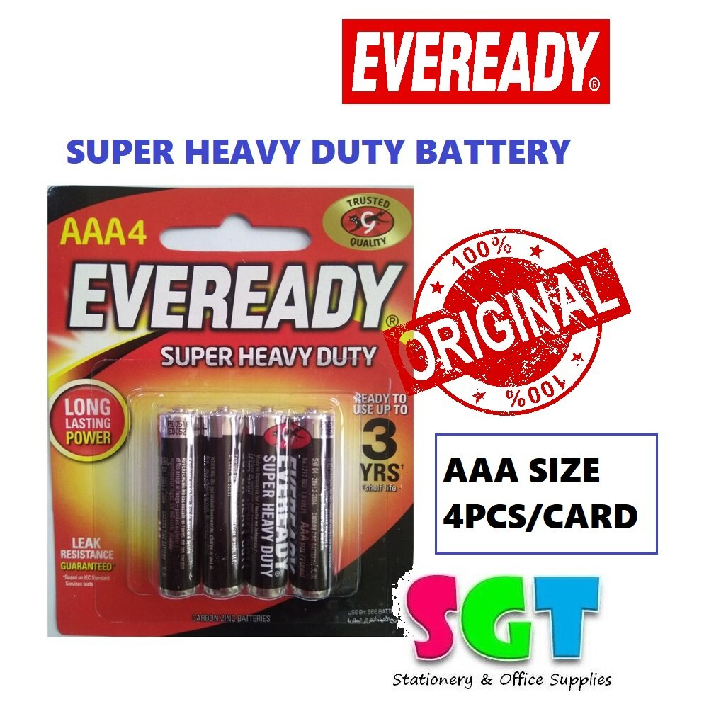 Eveready AAA Super Heavy Duty Battery 4pcs (1212 BP-4)