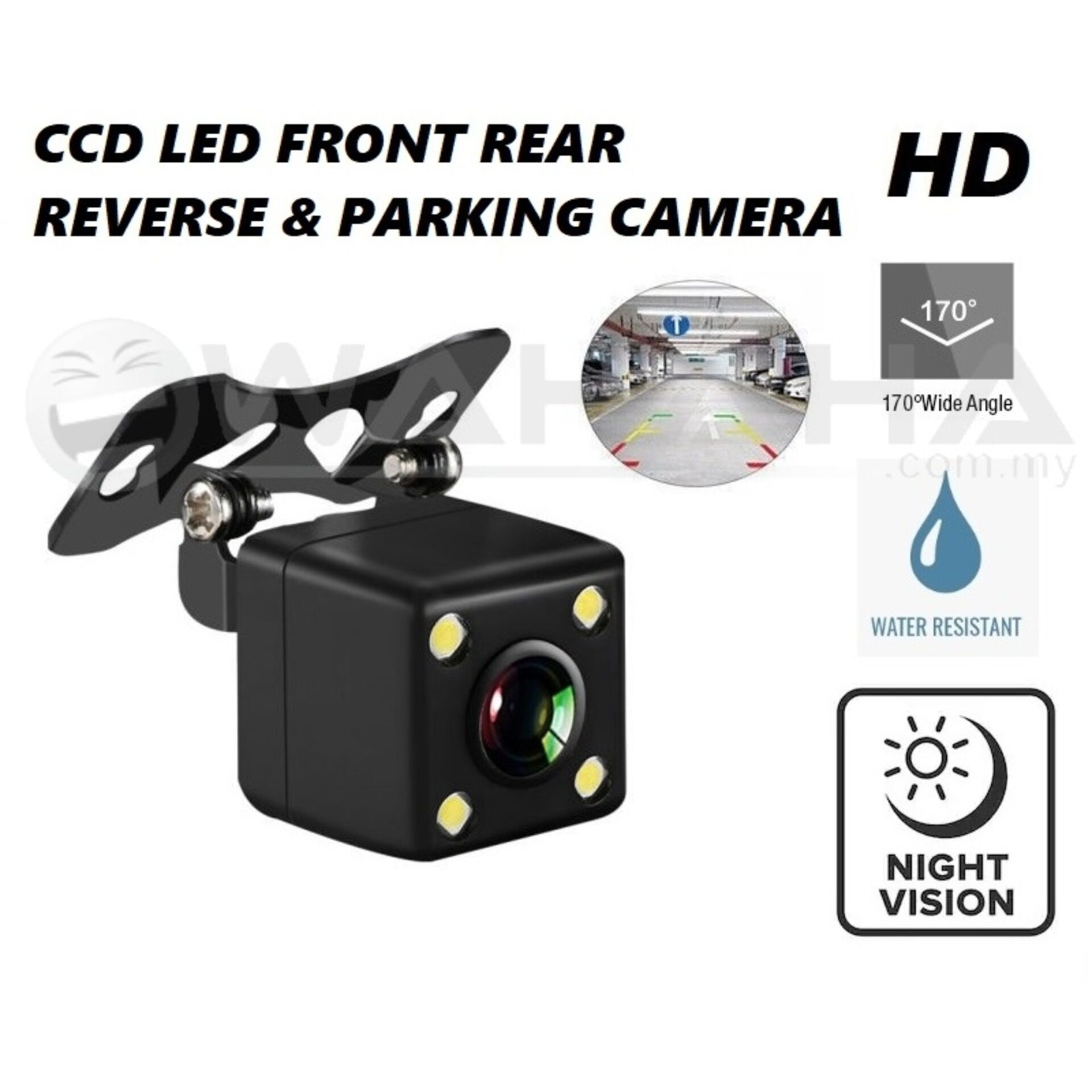 Car Front & Rear View Reverse Camera Parking Camera CCD LED 170 Degree Wide Angle HD Camera