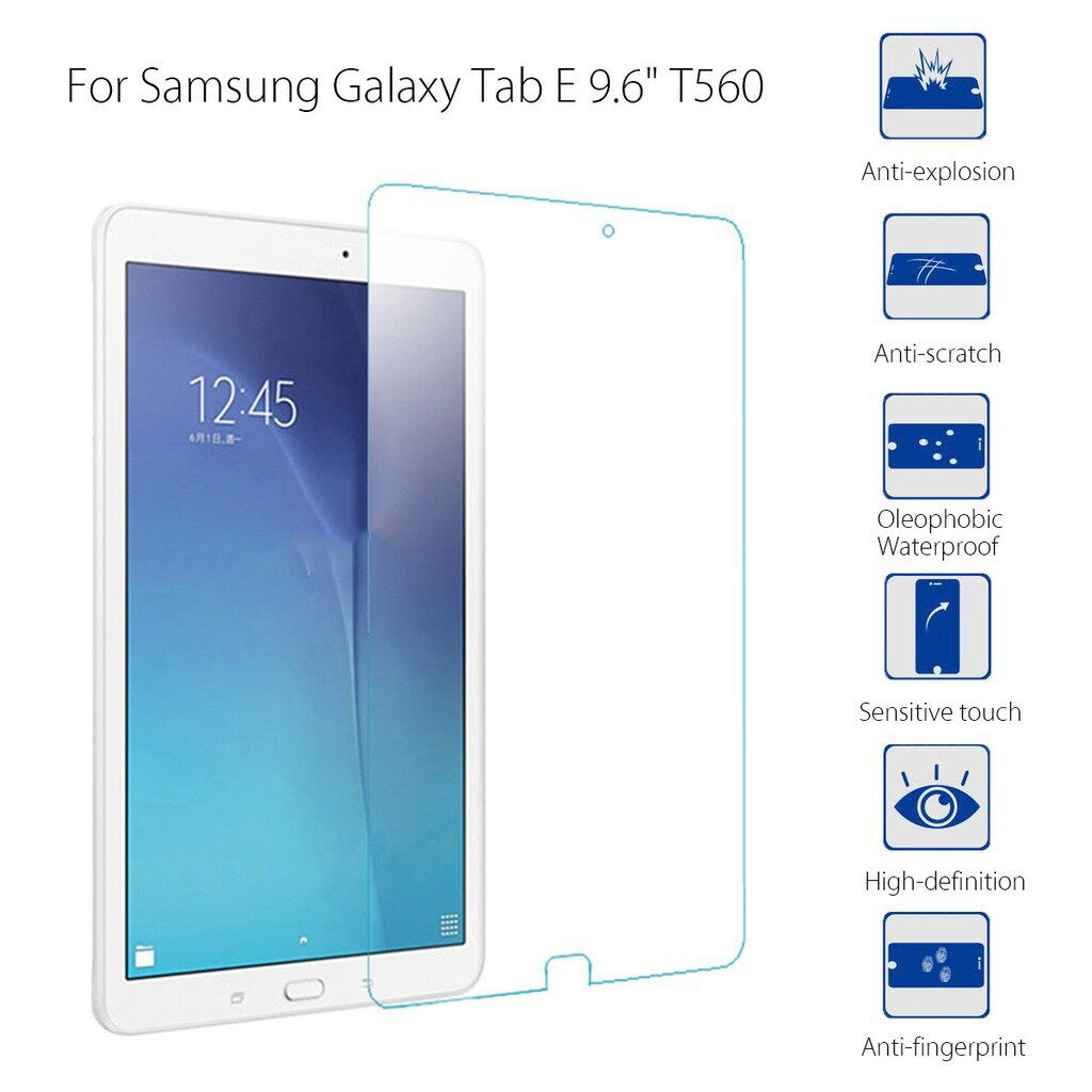 Clear - For Samsung Galaxy Tab E 9.6 T560 9H Tempered Glass Screen Protector Cover F - Screen Protectors
