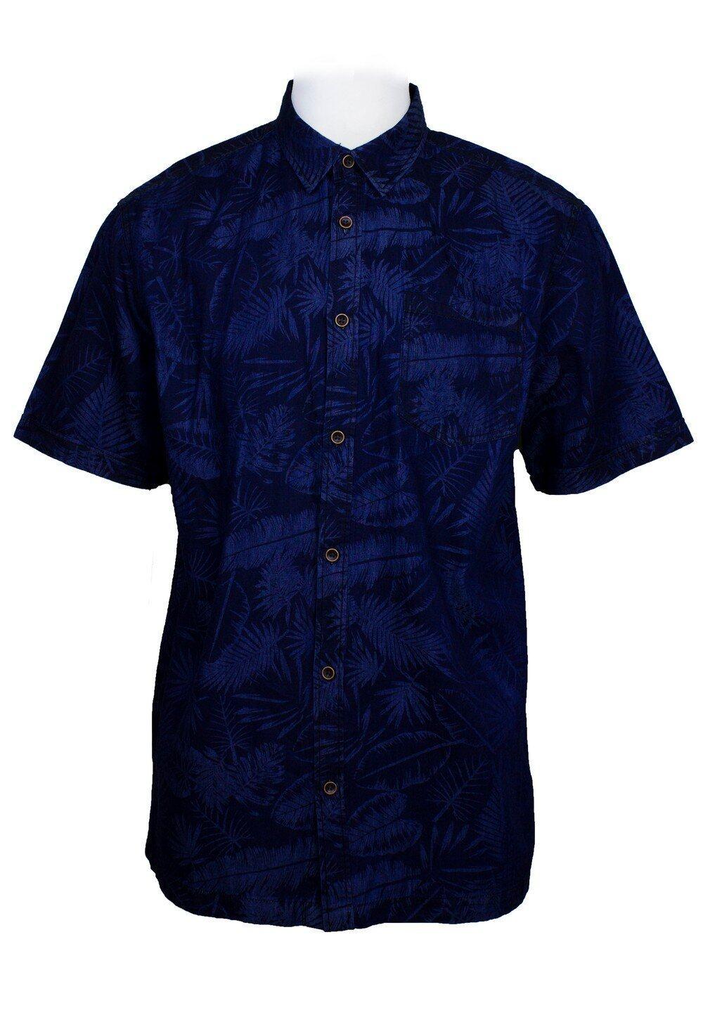 Short Sleeve Shirt with Flower Print (M-2XL)-817
