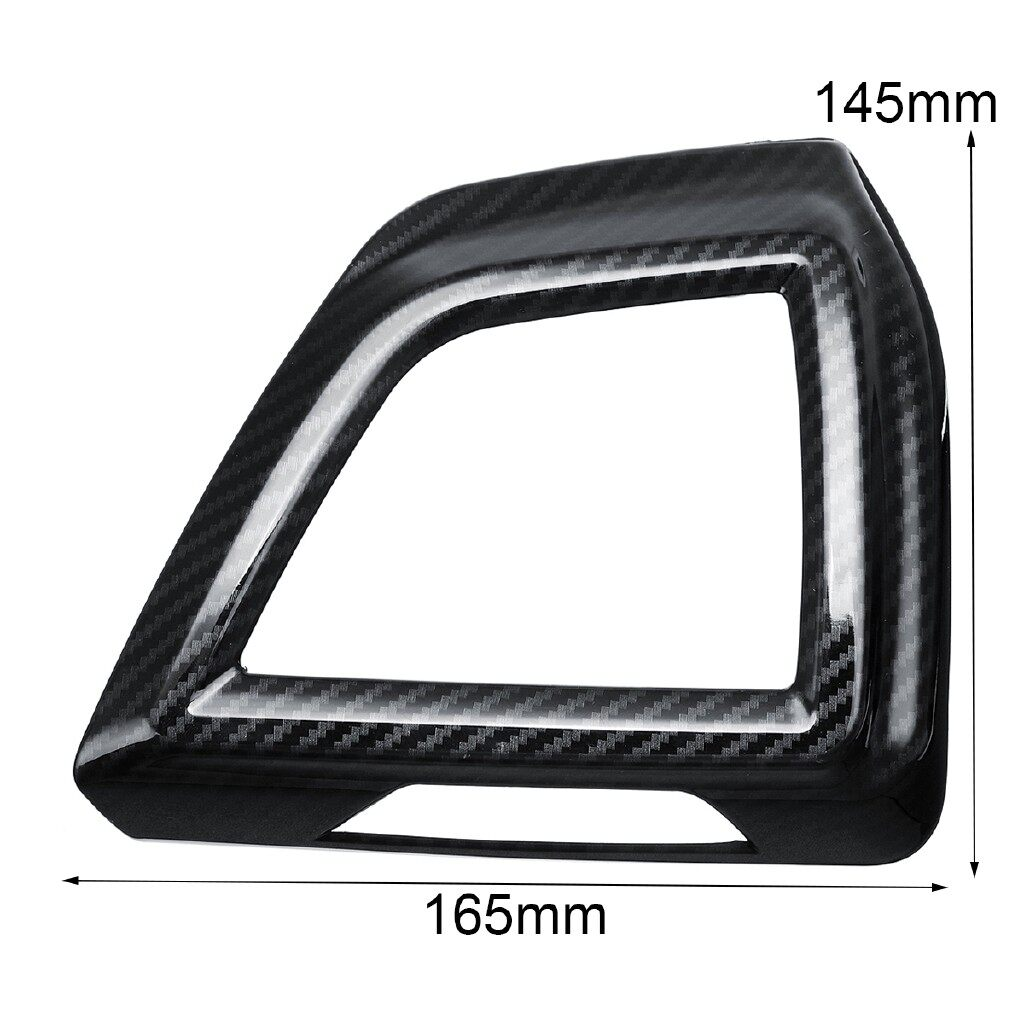 Engine Parts - 1 Pair Carbon Fiber Style Dashboard Side Air Vent Cover Trim For Subaru XV - Car Replacement