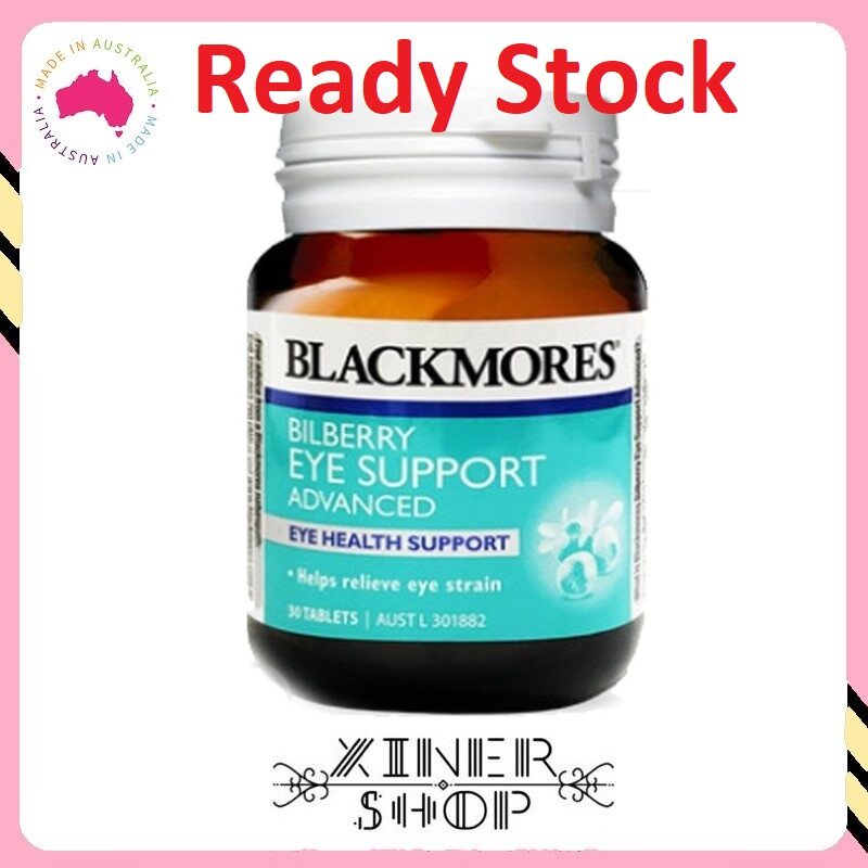 [Ready Stock EXP Date : 09/2021] Blackmores Bilberry Eye Support Advanced ( 30 Tablets )( Made In Australia )