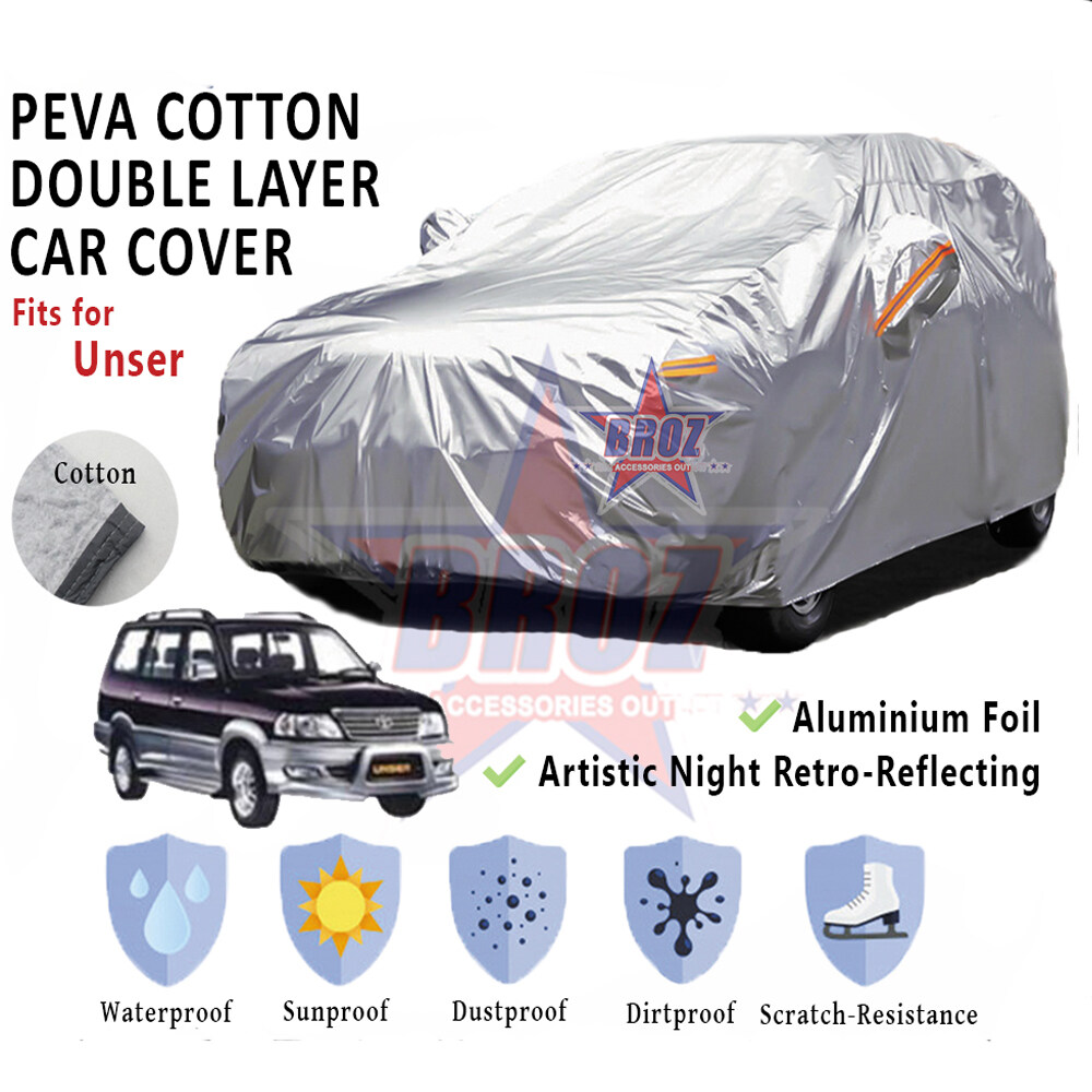 Unser High Quality Durable Anti Scratch Double Layer All Weather PEVA Cotton Car Body Cover - MPV Size